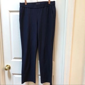 Eileen Fisher Navy Straight LegPull On pants